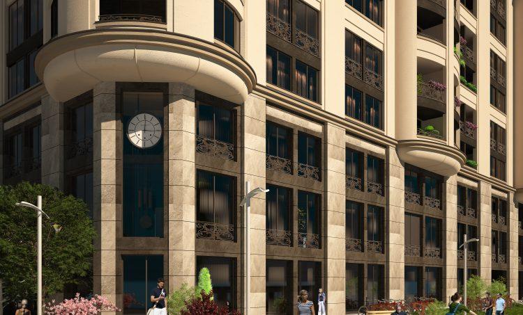 Жилищна сграда с подземен паркинг, магазини и офиси